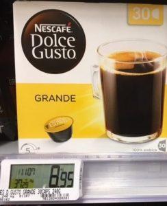 Nescafé Dolce Gusto grande par 30 capsules