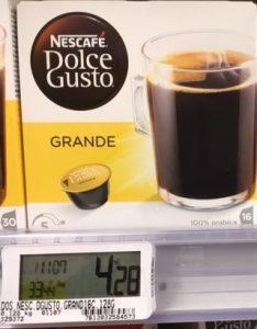 Nescafé Dolce Gusto Grande par 16 capsules