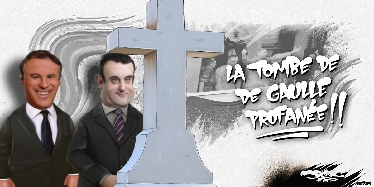 Les leaders de l'extrême-droite se recueillent sur la tombe du Général de Gaulle