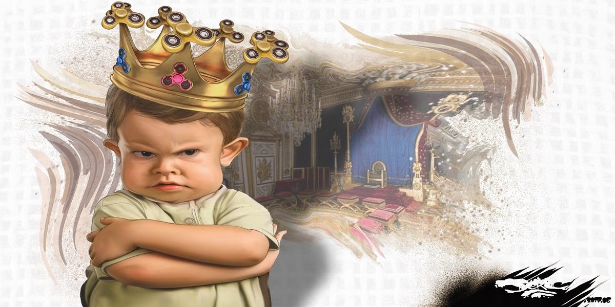 Aujourd'hui, c'est le culte de l'Enfant-Roi, et l'Enfant-Roi exige d'être drogué au Handspinner
