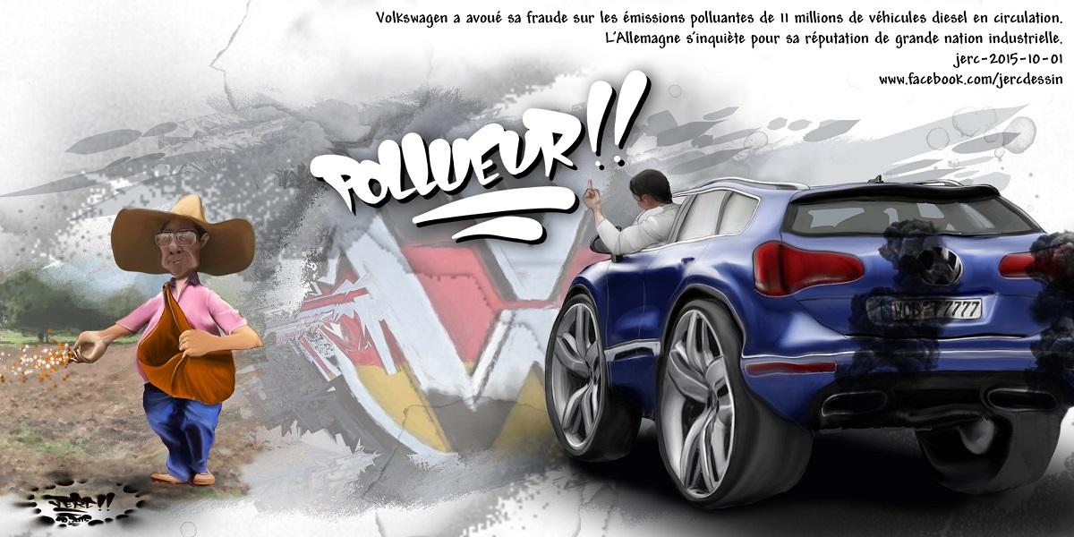 Volkswagen avoue être un fraudeur pollueur