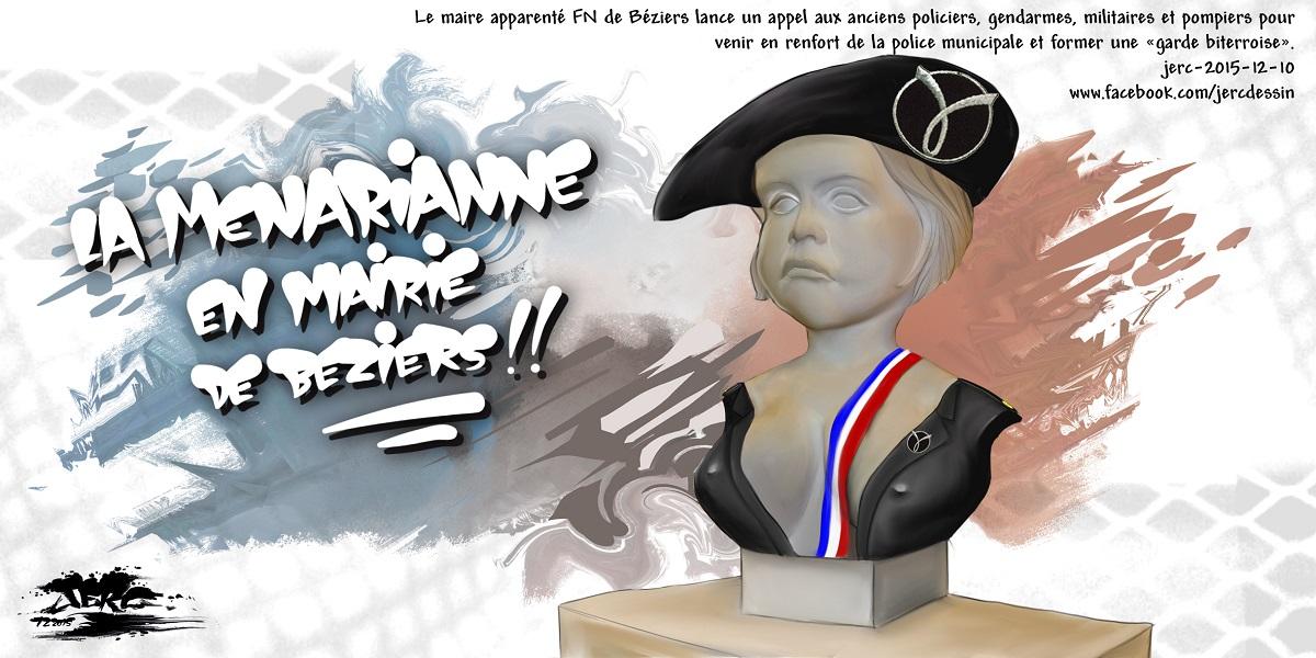 Marianne en mode Robert Ménard à Béziers