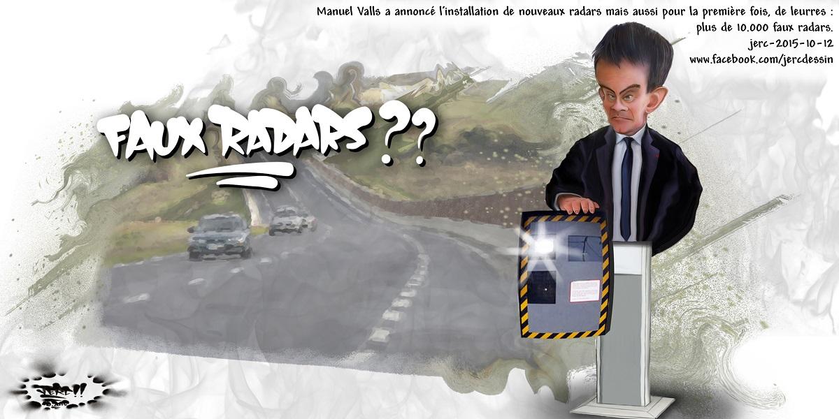 Manuel Valls et ses faux radars pour vrais chauffards