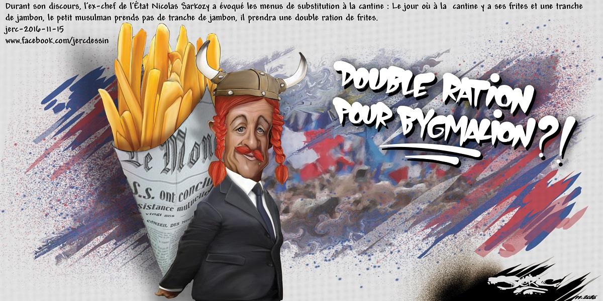 Nicolas Sarkozy et ses frites pour les musulmans, Astérix n'aurait pas fait mieux