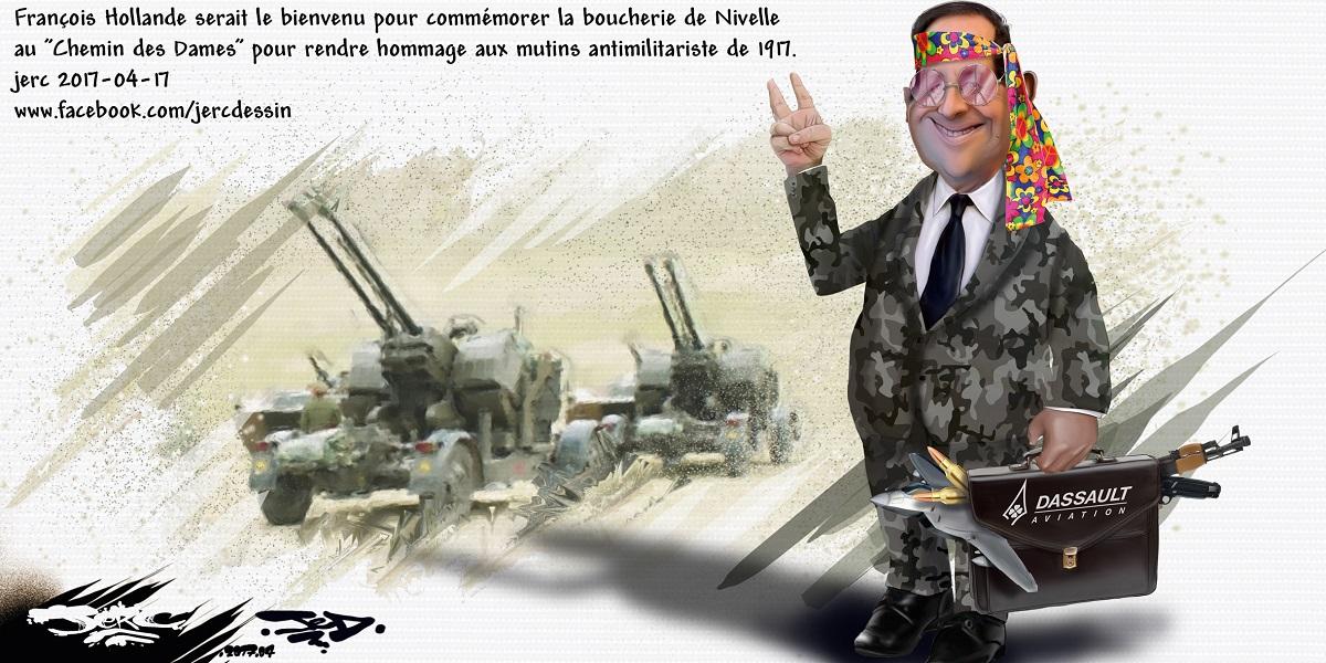 François Hollande, chef de guerre ou représentant des fabricants d'armes