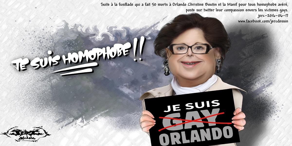 Christine Boutin compatit pour la fusillade d'Orlando alors qu'elle manifeste ouvertement son homophobie