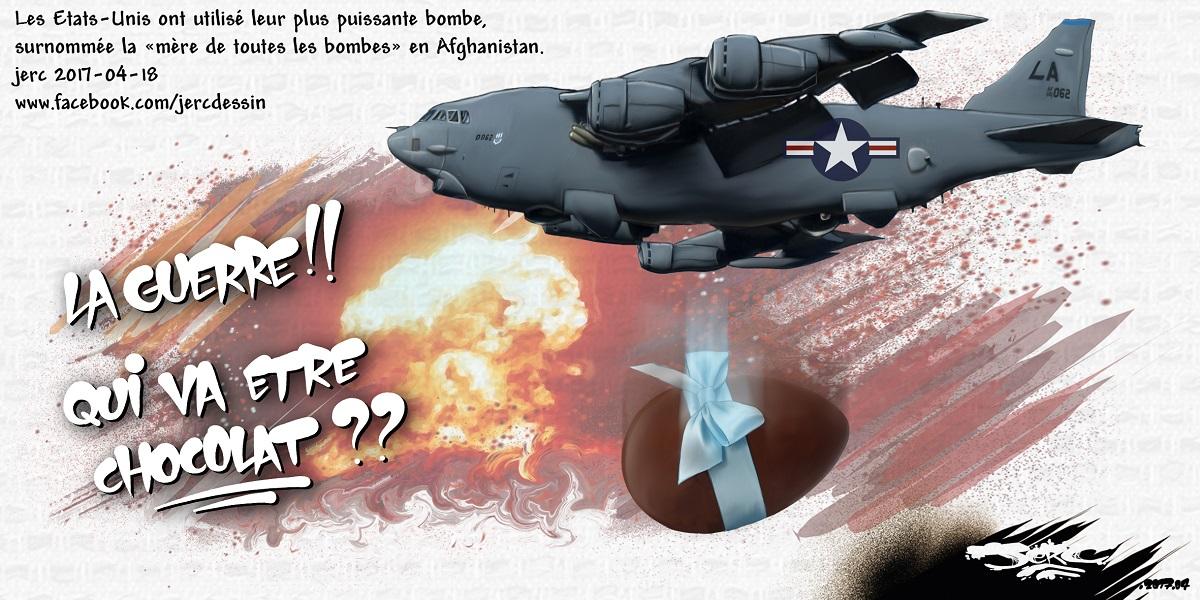 L'aviation américaine largue la bombe de Pâques en Afghanistan
