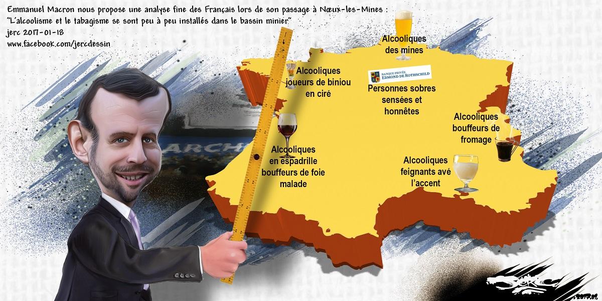 Pour Emmanuel Macron, les français sont des alcooliques fainéants