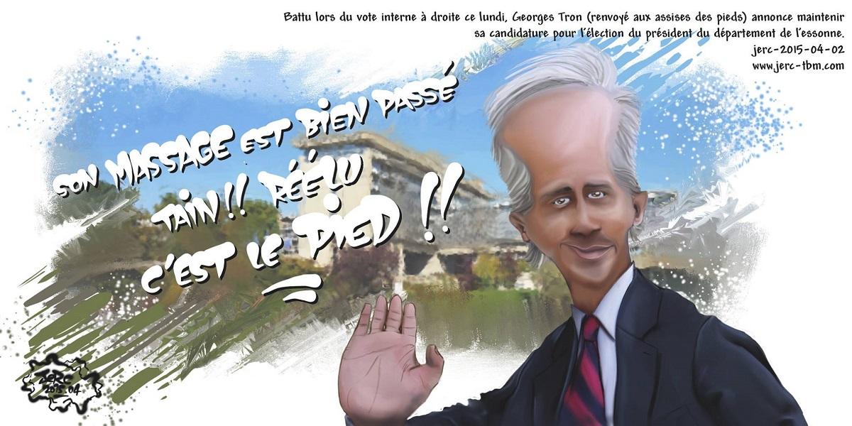 Pour Georges Tron, la politique, c'est le pied !