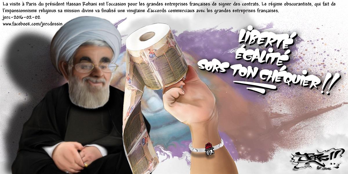 Le président obscurantiste Hassan Rohani renie les droits de l'homme, mais les entreprises prennent son argent
