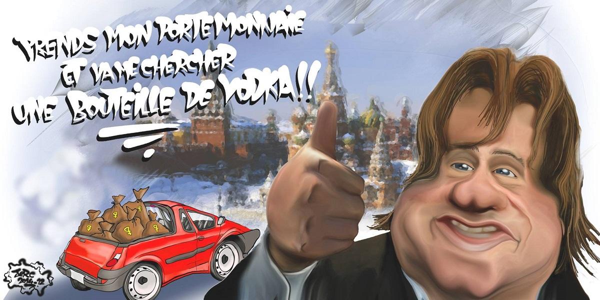 Gérard Depardieu en Russie, une histoire de fric ou d'alcool ?
