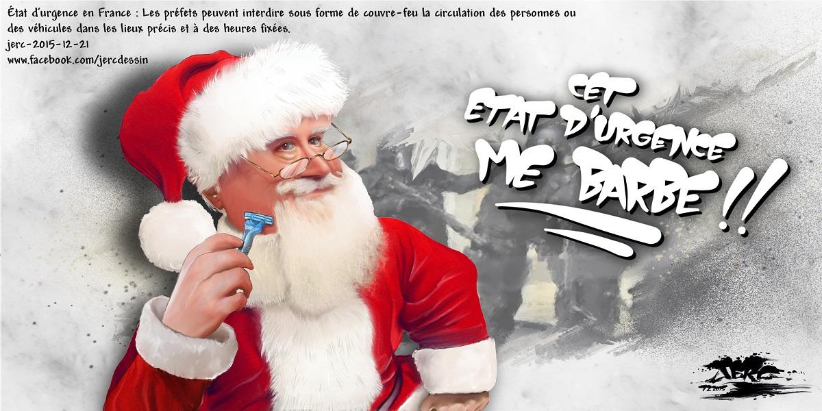 Le Père Noël va devoir raser sa barbe pour circuler librement