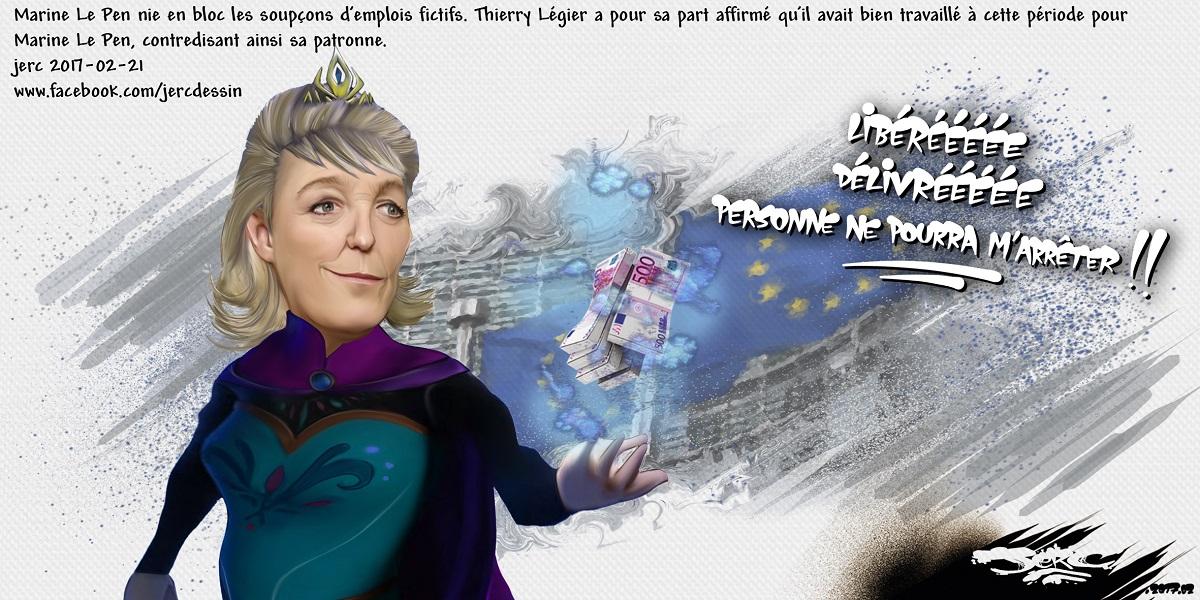 Marine Le Pen, la nouvelle Reine des Neiges, personne ne peut l'arrêter