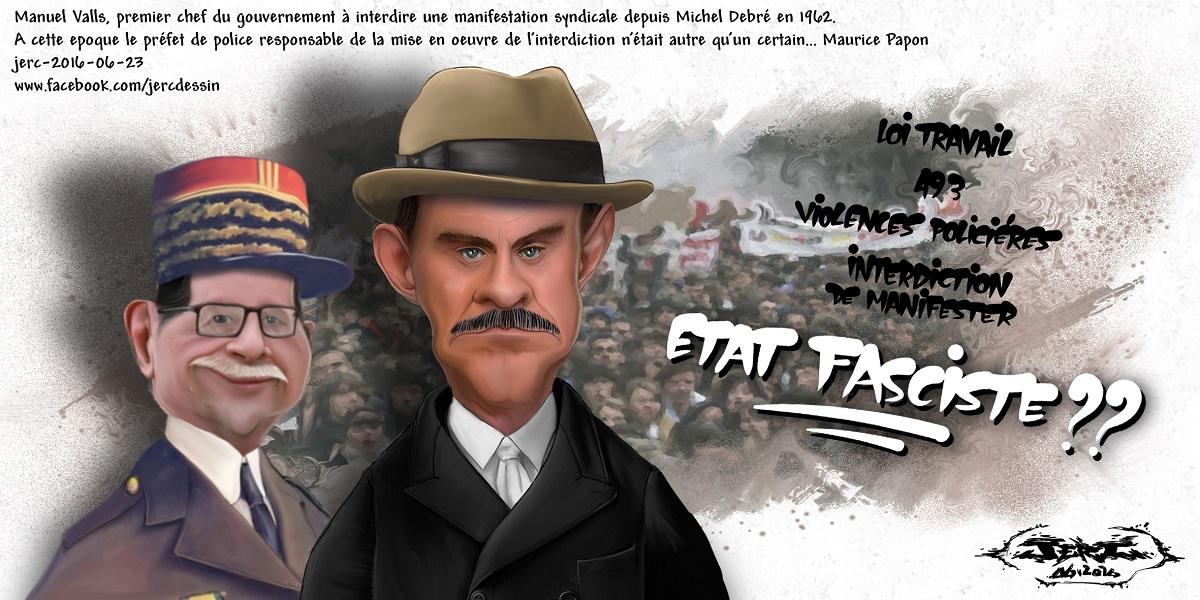François Hollande et Manuel Valls, le retour d'un Etat Fasciste ?