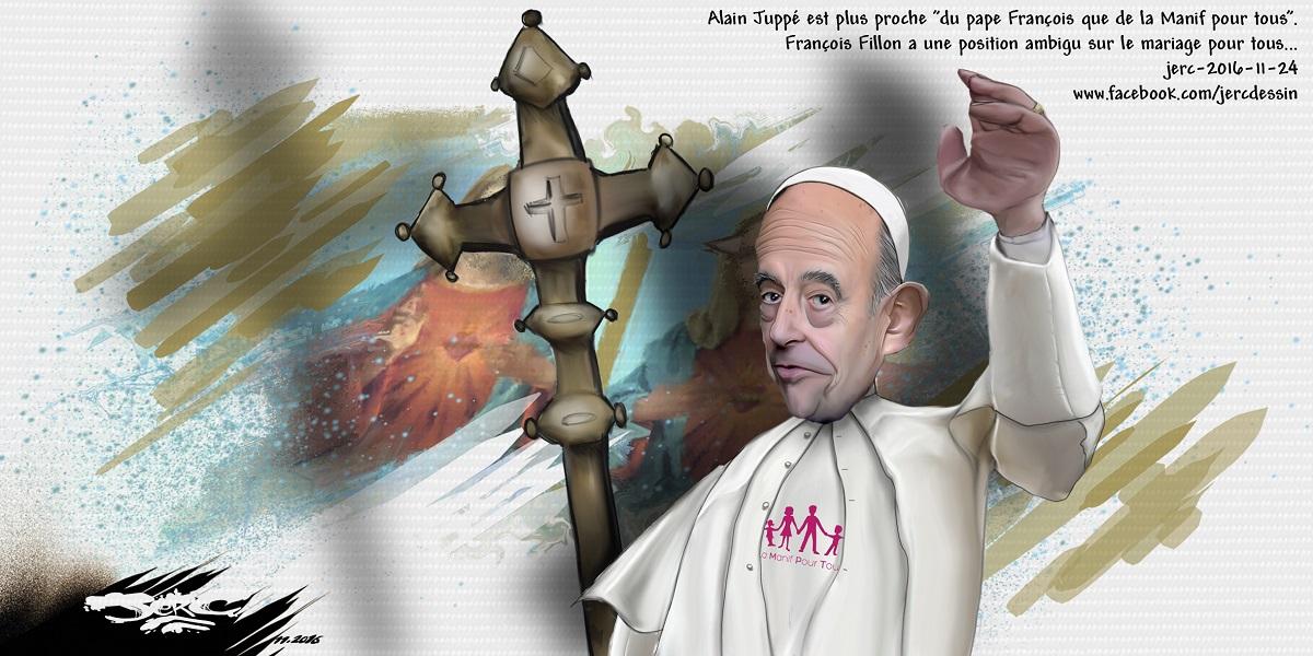 Alain Juppé, sponsorisé par le Pape François