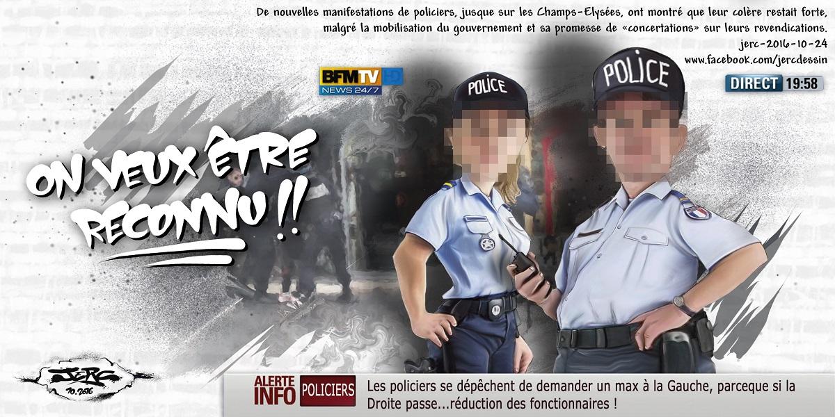 Les policiers français sont en colère et manifestent