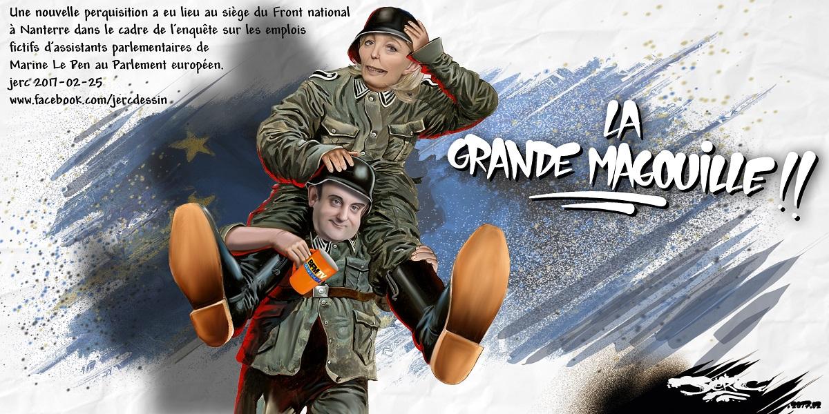 Florian Philippot et Marine Le Pen nous font le remake de La Grande Vadrouille version Front National