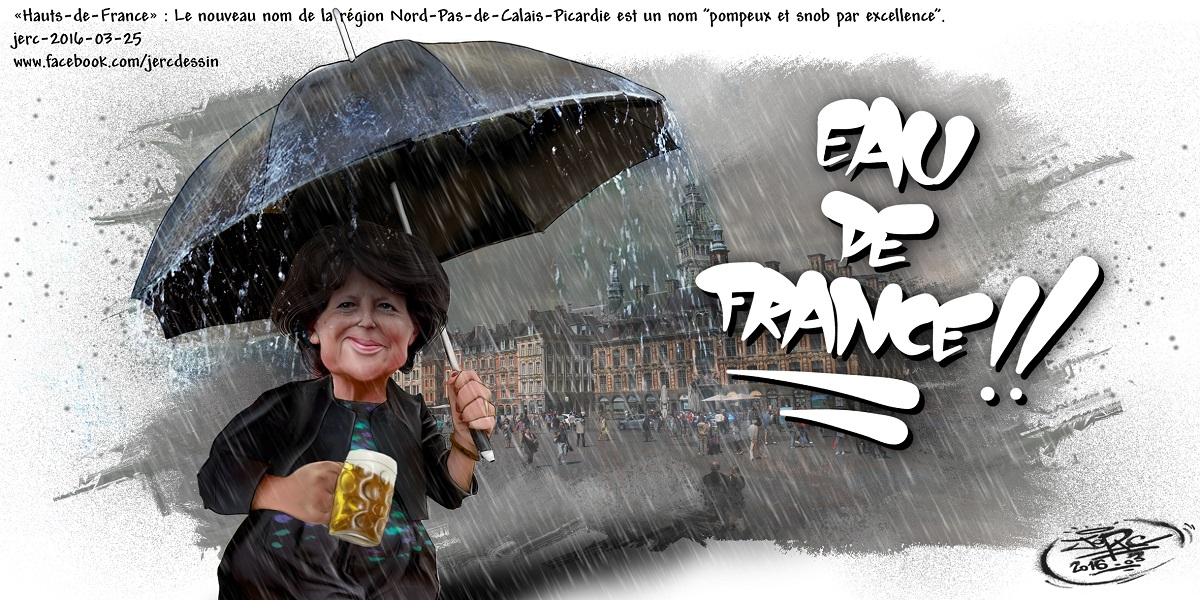 Martine Aubry et le nouveau nom de la Région Nord-Pas-de-Calais-Picardie : Une bière et un parapluie !