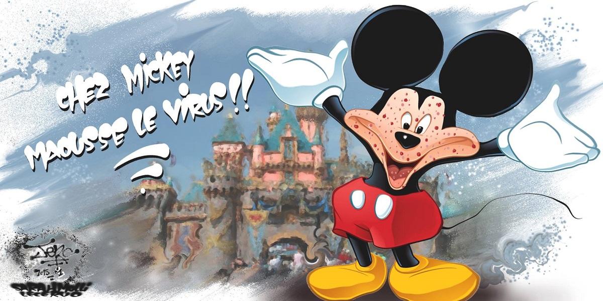 Epidemie de rougeole chez Mickey