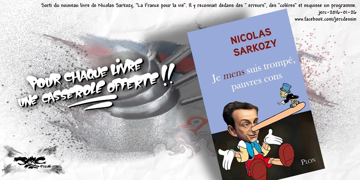 Le livre de Nicolas Sarkozy, la nouvelle histoire de Pinocchio ?