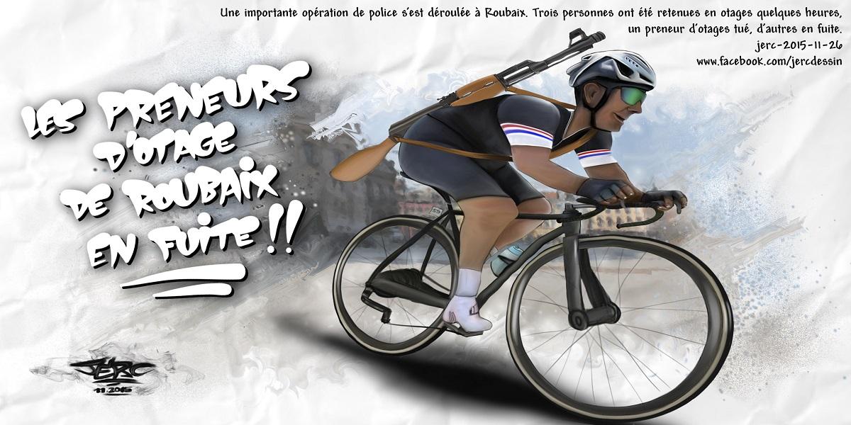 En Roubaix, la police poursuit les preneurs d'otage en vélo