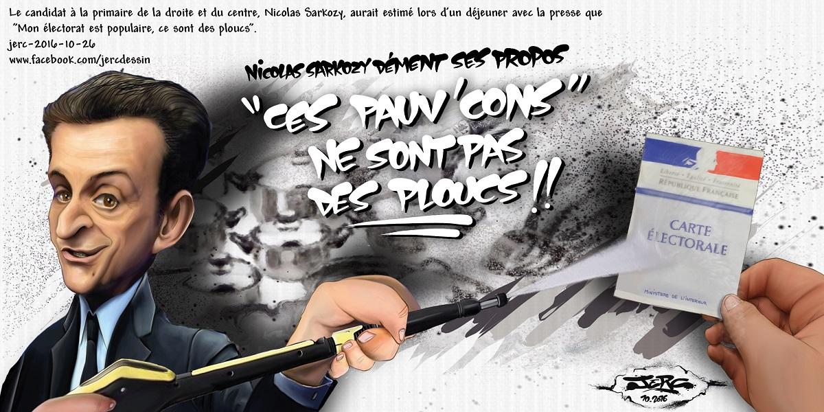 Nicolas Sarkozy pense que son électorat est populaire, ce sont des ploucs