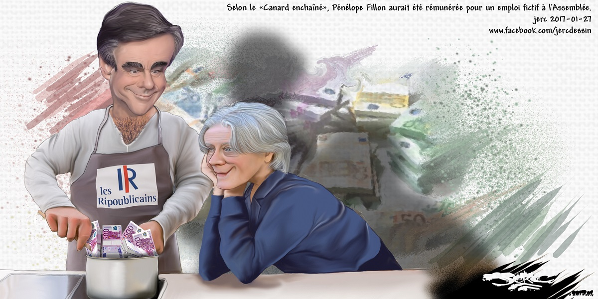 Penelope et François Fillon, la cuisine à la sauce fric de l'Etat