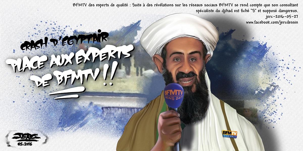Le consultant de BFMTV spécialiste du Djihad est lui-même fiché S. Ben Laden n'aurait pas fait mieux !