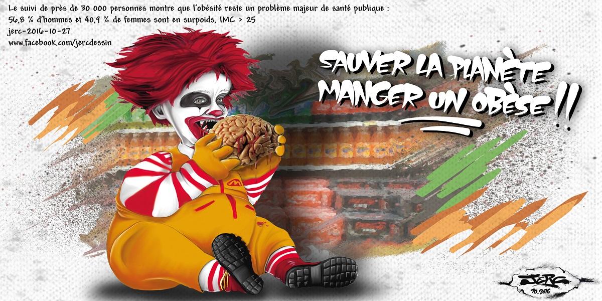 L'ogre Mac Donald's mange le cerveau des consommateurs obèses