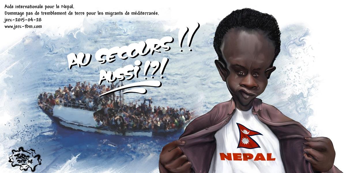 Une aide pour le Népal, mais pas pour les migrants méditerranéens
