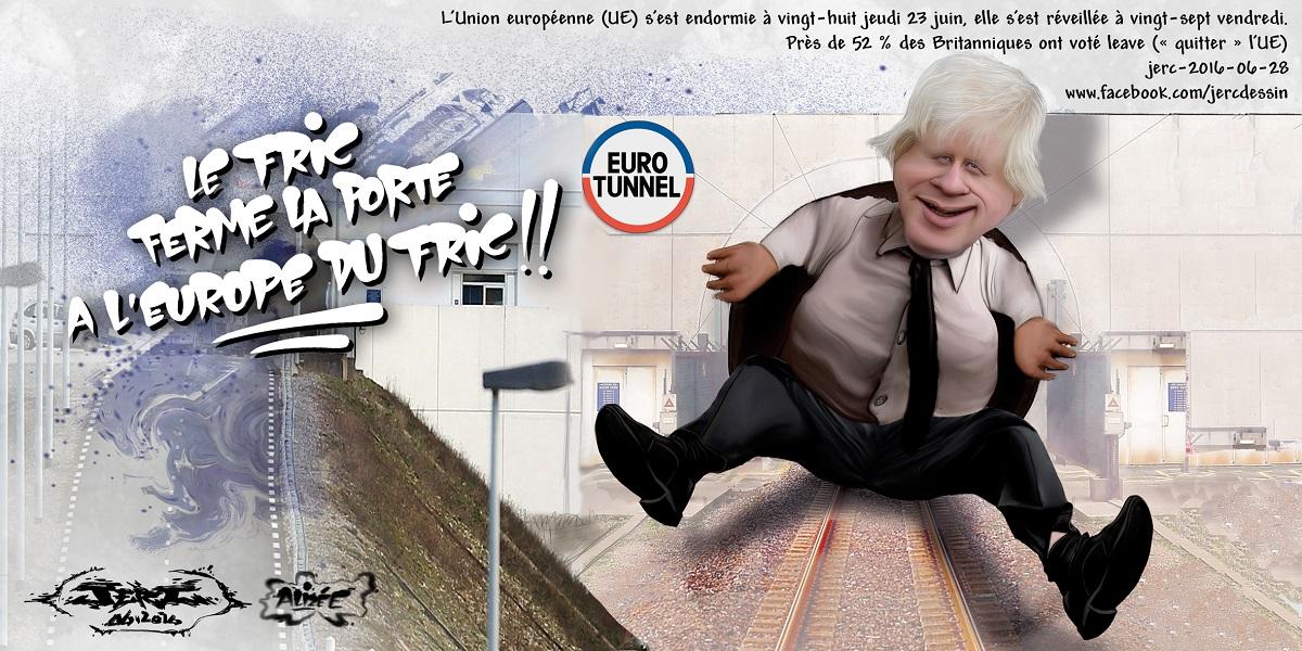 Boris Johnson a réussi à rendre obsolète l'EuroTunnel... le Brexit est voté !