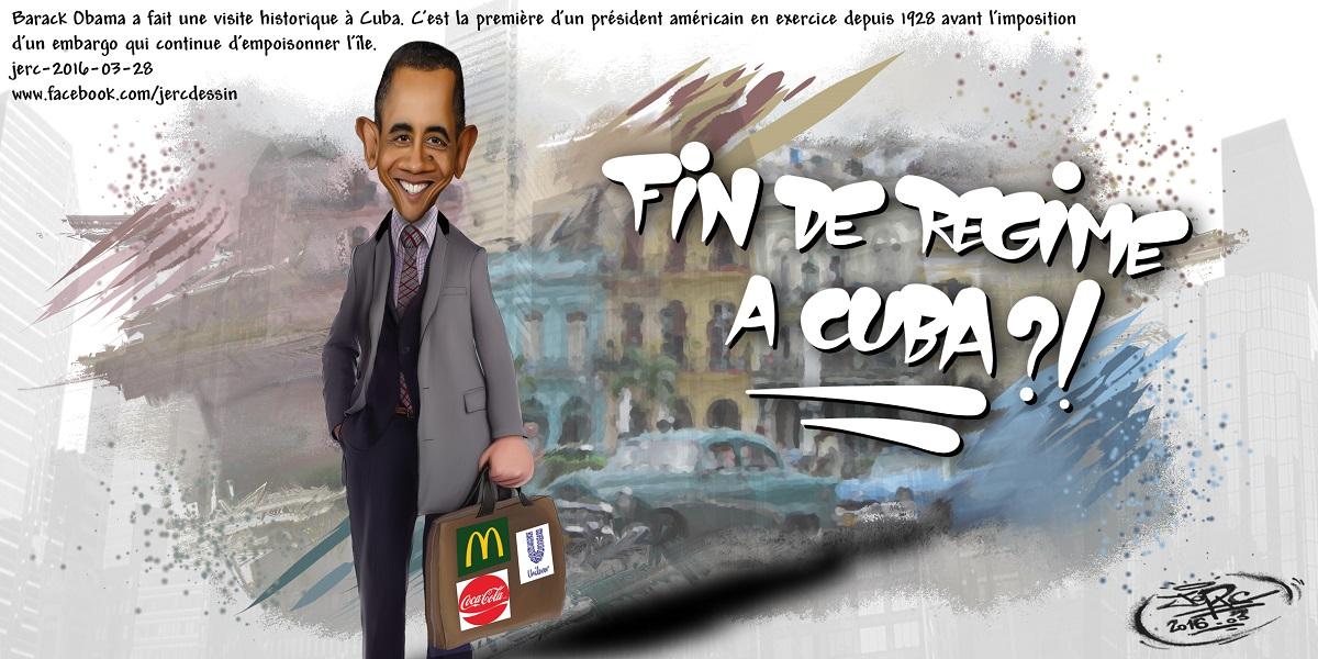 Barack Obama, représentant officiel des multinationales à Cuba