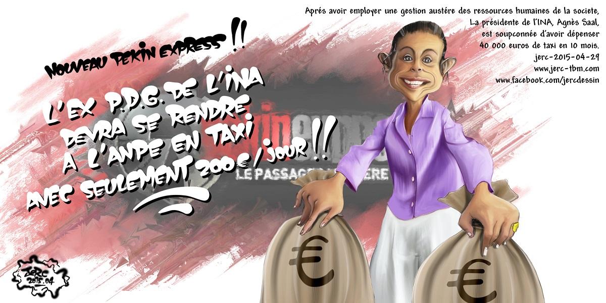 Agnes Saal, présidente de l'INA, prend le pognon et tire-toi en taxi !