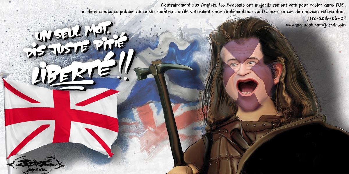 L'Ecosse veut devenir indépendante, Mel Gibson ne l'avait pas prévu, celle-là !