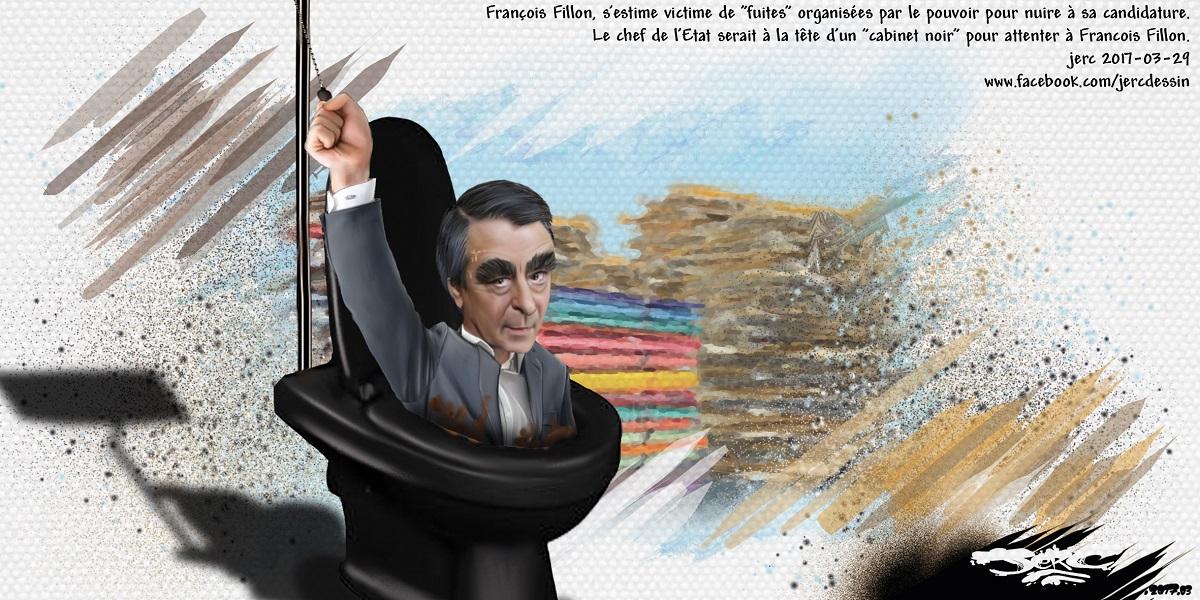 François Fillon, enfonçé dans les toilettes, est prêt à se tirer la chasse dessus