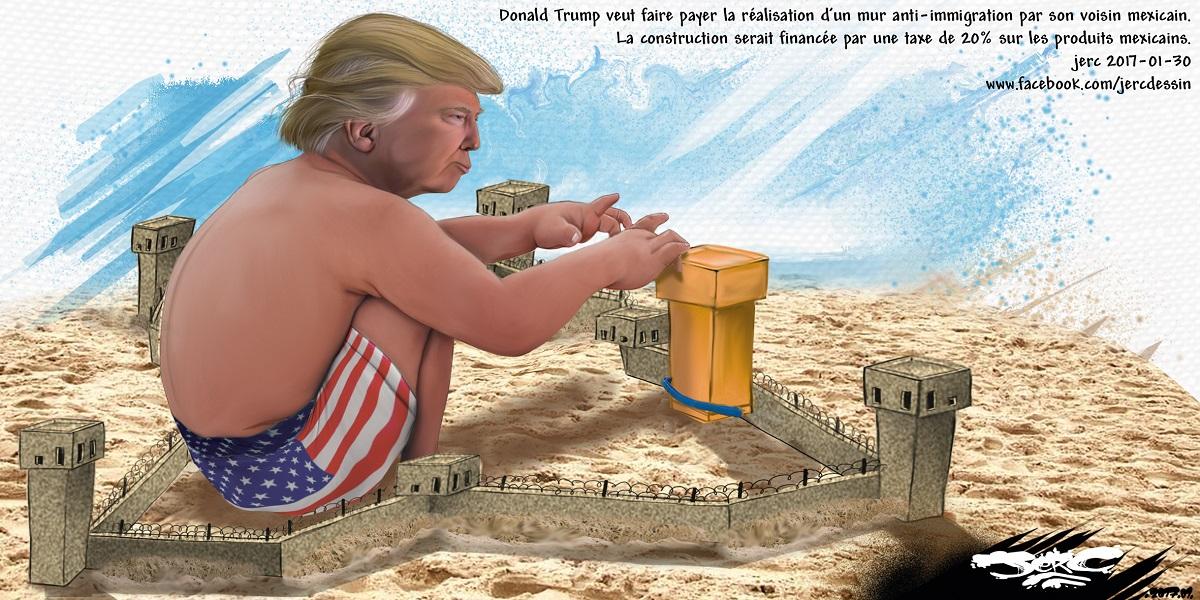 Le mur anti-immigration de Donald Trump, son nouveau château de sable ?