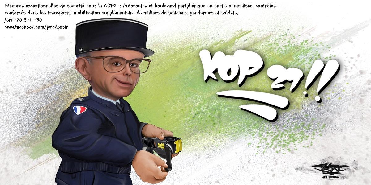 Bernard Cazeneuve super-gendarme de la COP 21