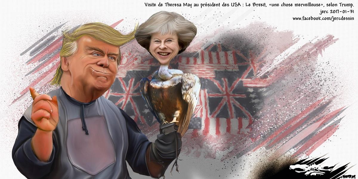 Theresa May, rien d'autre que le perroquet de Donald Trump ?