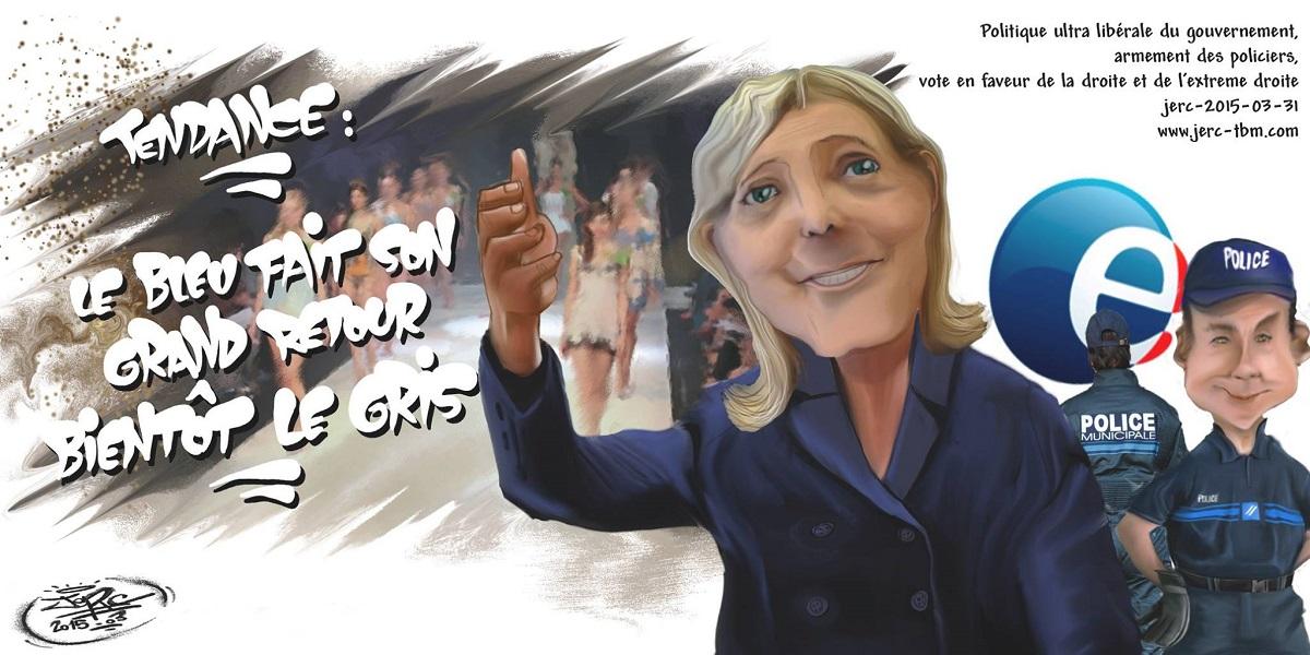 La Droite policière prépare une autoroute pour Marine Le Pen
