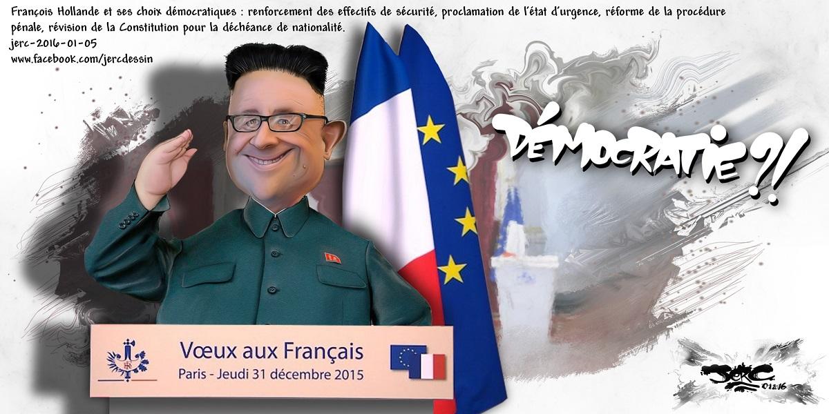 Les choix démocratiques de françois Hollande... Pas mieux que Kim Jong Un