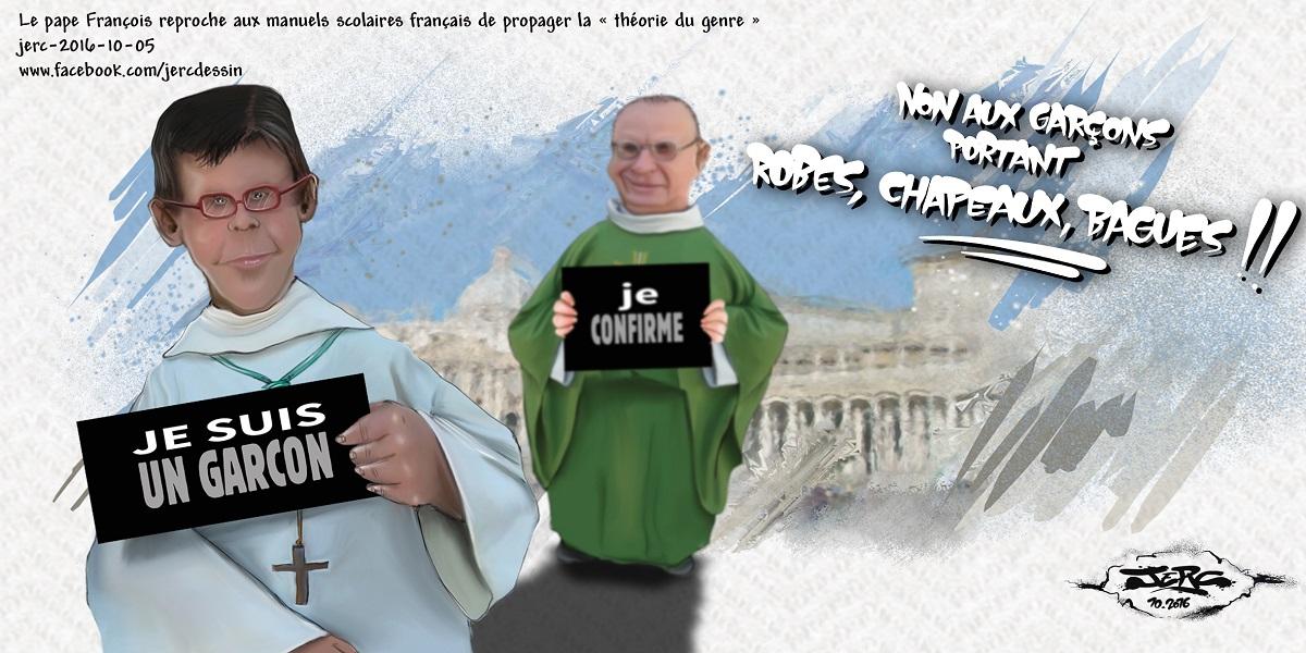 Le Pape françois a un problème avec les garçons portant des robes