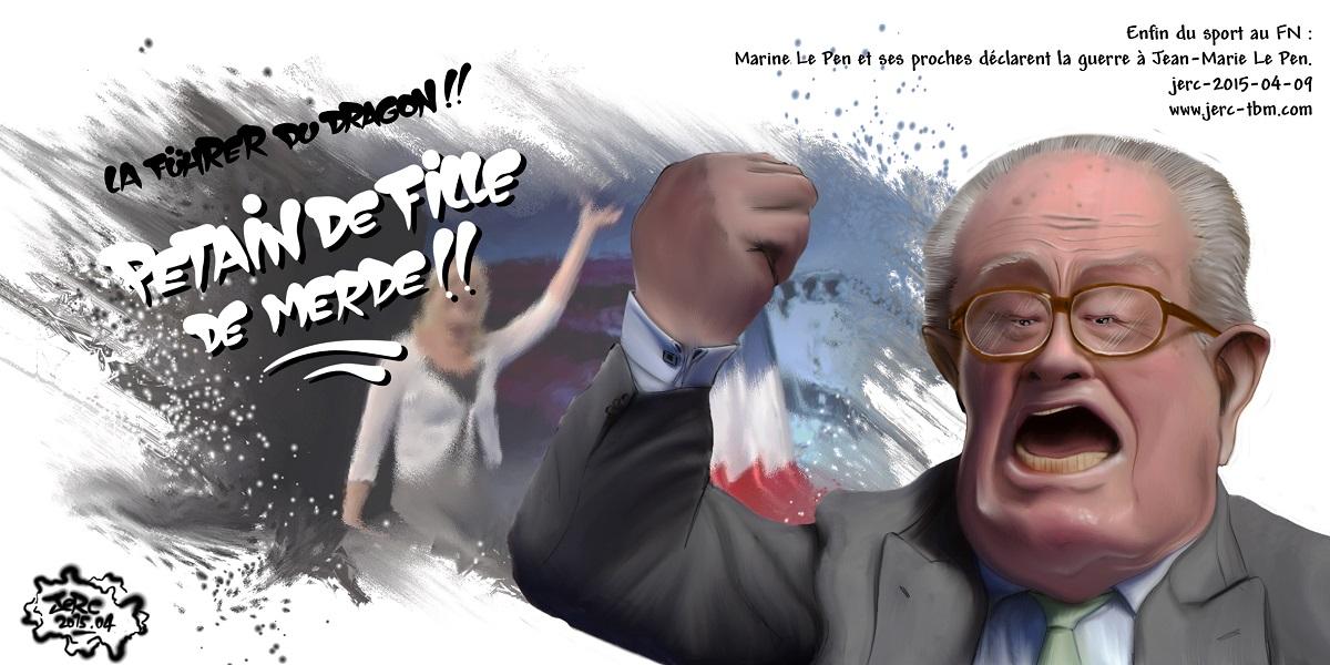 Marine Le Pen déclare la guerre à Jean-Marie Le Pen : Père contre fille