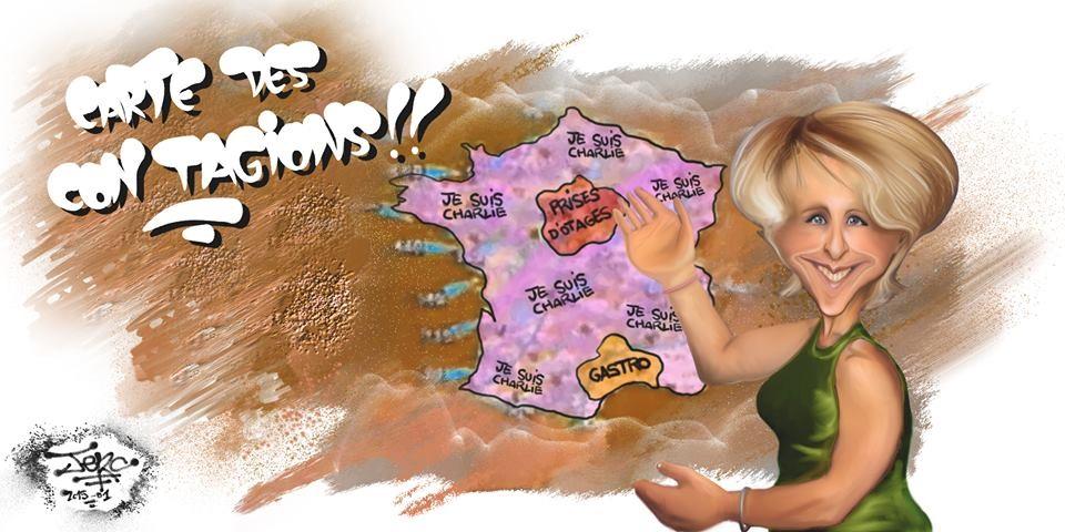 La carte française des contagions et prises d'otages