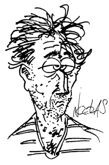 Dessin autoportrait de Nicolas, le dessinateur illustrateur du site Blagues-et-Dessins