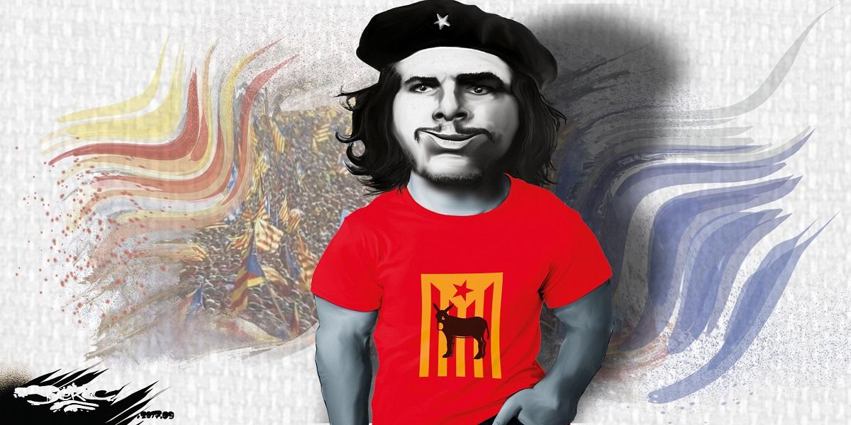 Dessin de Che Guevara pour la Catalogne