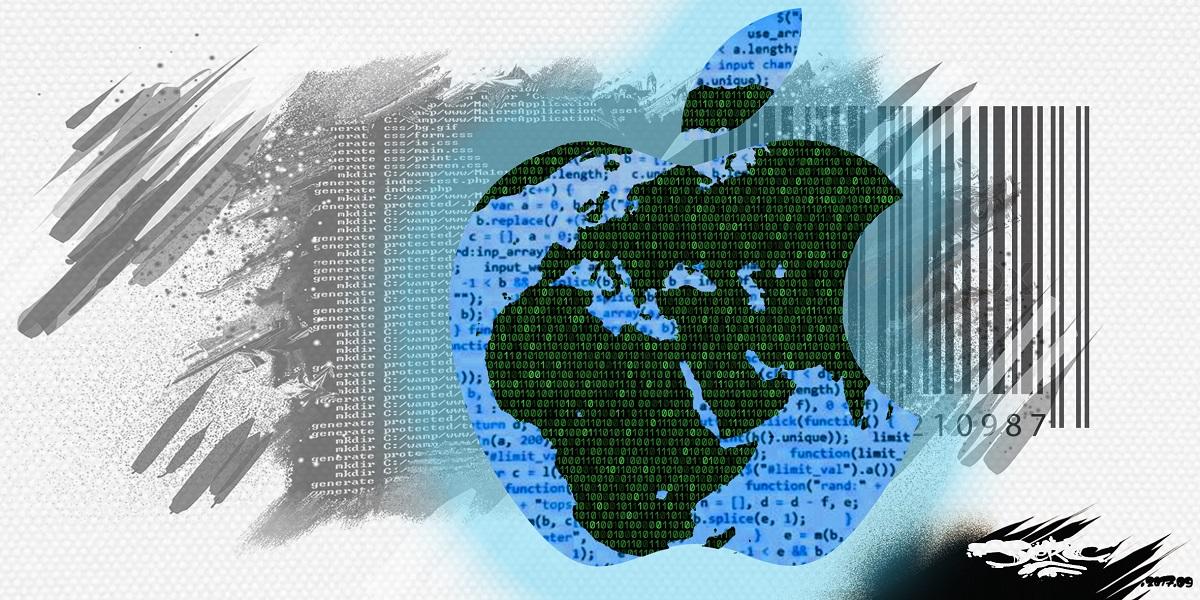 Dessin du logo d'Apple et de la domination du monde