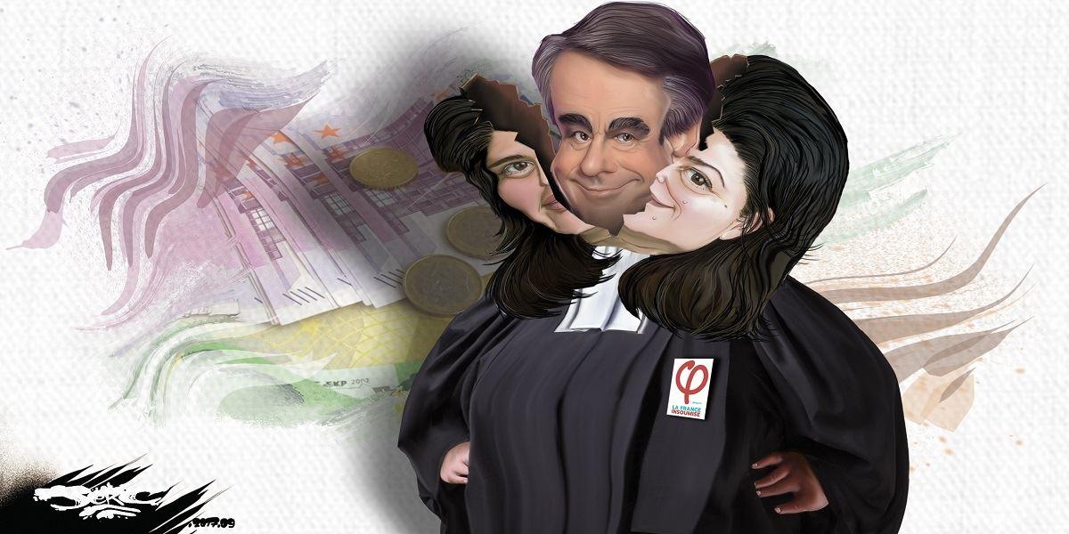 Dessin de Raquel Garrido, une vraie politique, elle cache une magouilleuse comme les autres