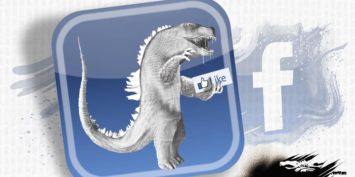 Caricature du Logo Facebook en monstre