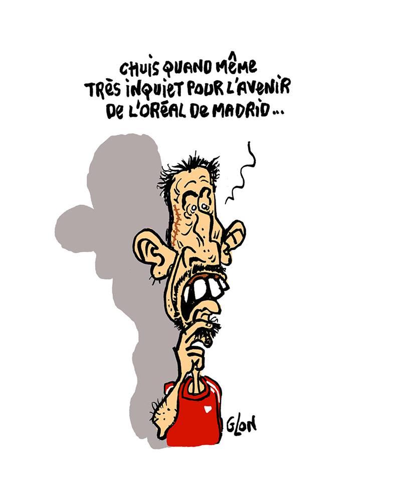 dessin de Franck Ribéry qui s'interroge sur la mort de Liliane Bettencourt