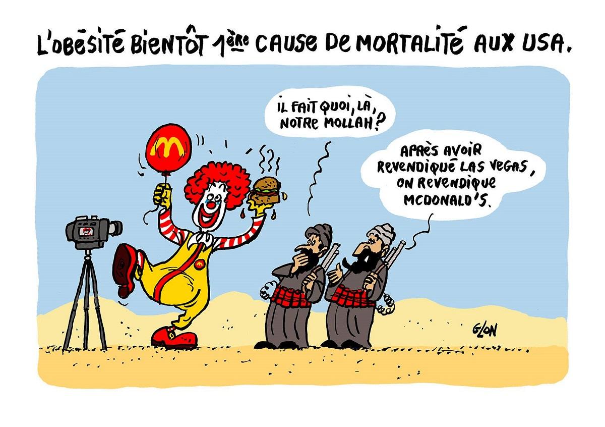 Caricature de McDonald's, revendiqué par les terroristes de Daesch